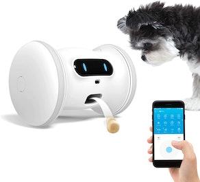 VARRAM Pet Fitness Robot Interactive Treat Dispenser Robot