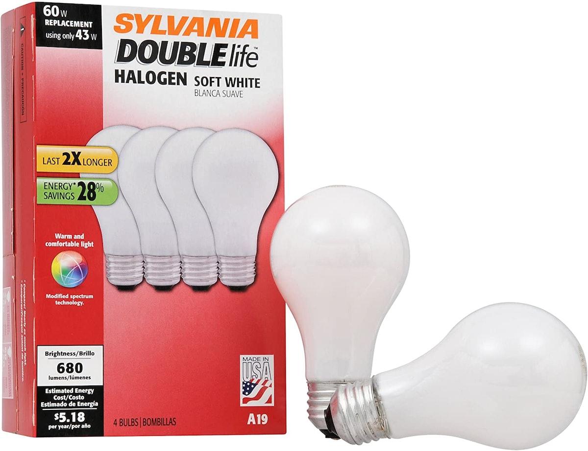 SYLVANIA Halogen Lamp Double Life Bulb (4-Pack)