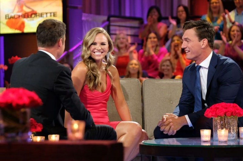 Chris Harrison, Hannah Brown, and Tyler Cameron on The Bachelorette: After The Final Rose