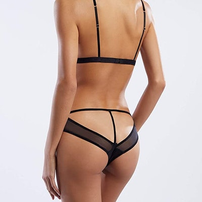Savage X Fenty Open-Back Velvet Bikini