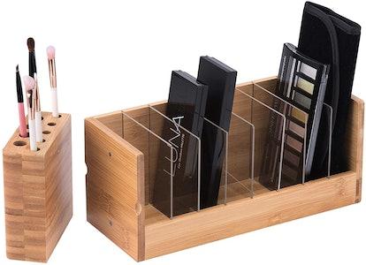 Bamboo Cosmetic Organizer