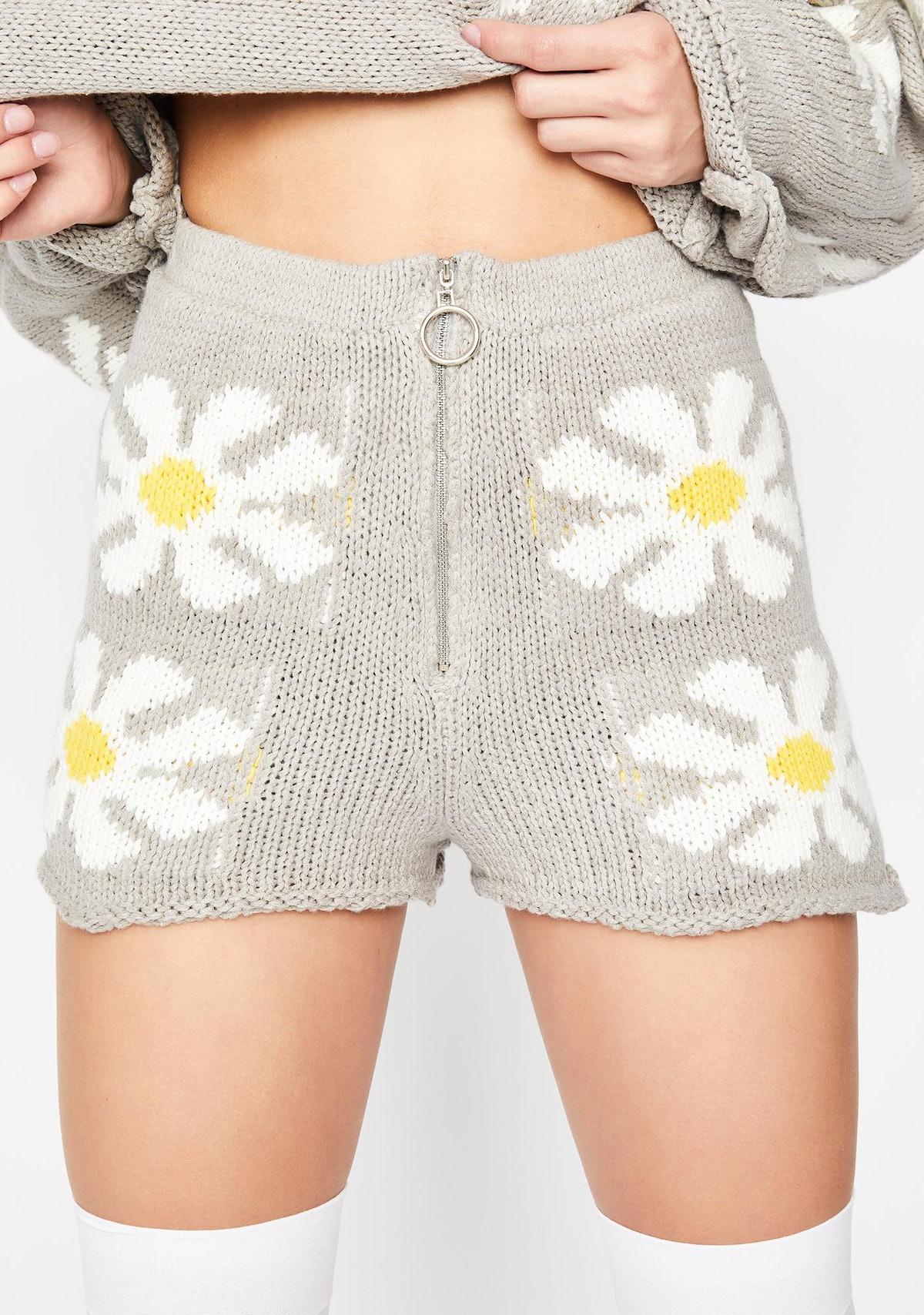 Dolls Kill Daisy Daydream Knit Short