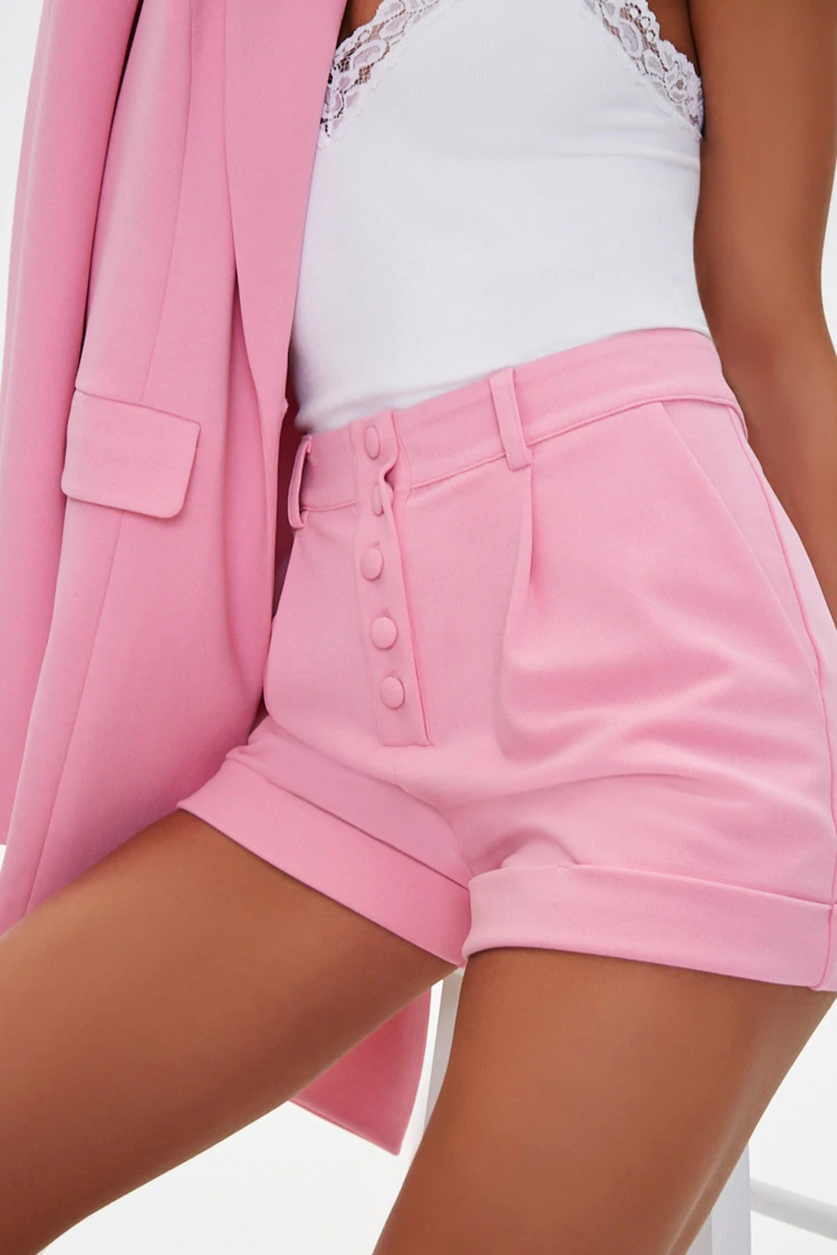 Forever 21 Cuffed High-Rise Shorts