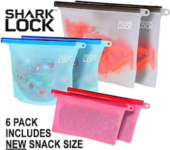 Shark Lock Silicone Food Storage Bags