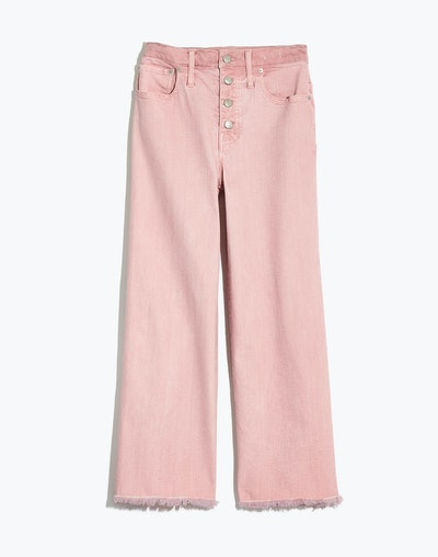 Wide-Leg Crop Jeans: Garment-Dyed Edition