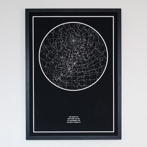The Night Sky Star Map