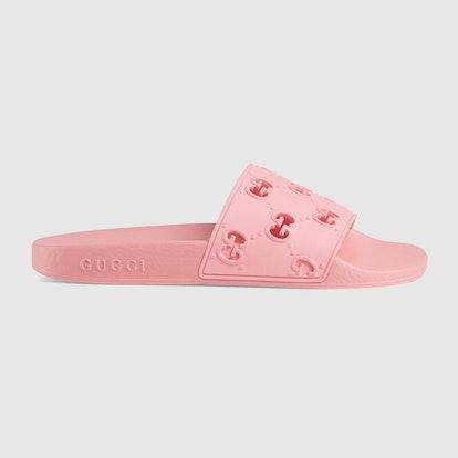 Women's Rubber GG Slide Sandal