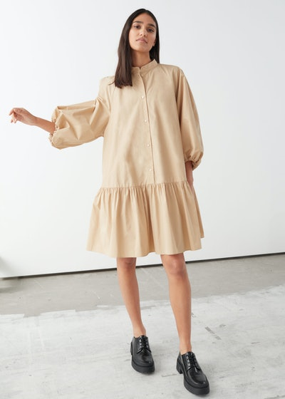 Voluminous Puff Sleeve Mini Dress