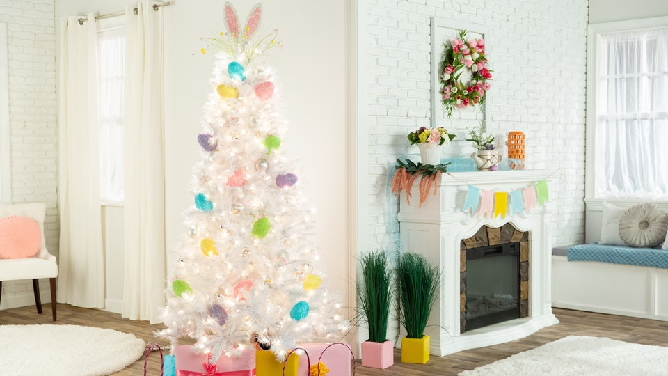 a white easter tree