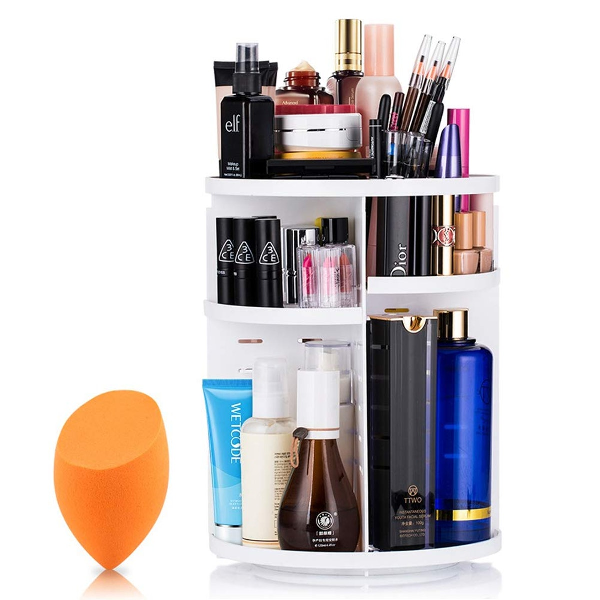 360-Degree Rotating Makeup Organizer
