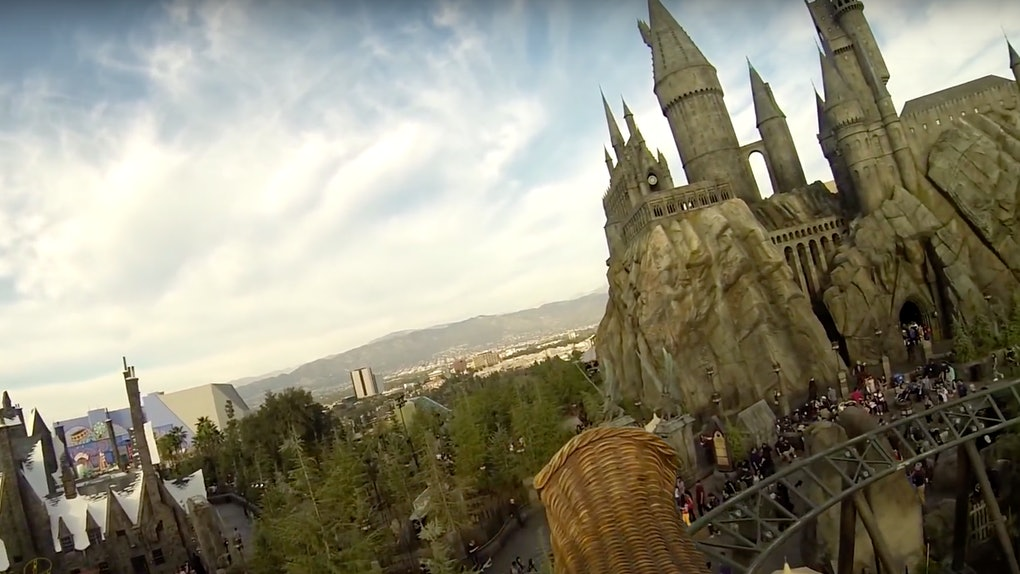 The Flight Of The Hippogriff ride at Universal Studios Hollywood gives visitors an epic look at the park.