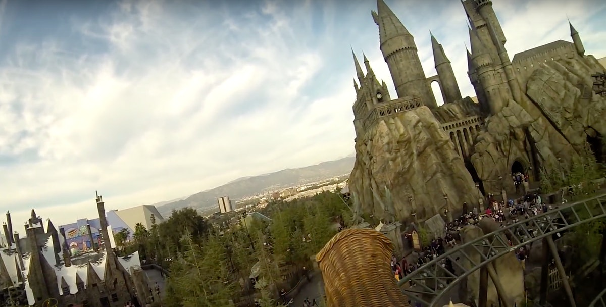 The Flight Of The Hippogriff ride at Universal Studios Hollywood gives visitors an epic look at the ...