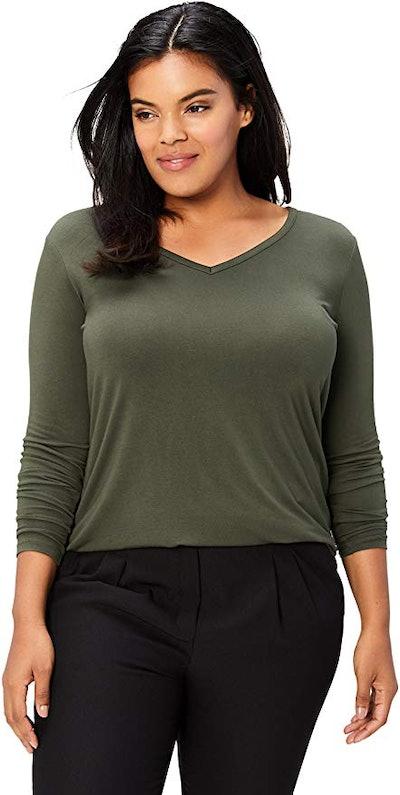 Daily Ritual Plus Size Jersey Long-Sleeve T-Shirt