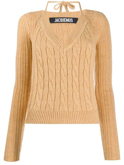 Layered Cable-Knit Jumper