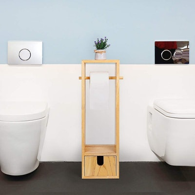 RZChome Toilet Paper Holder with Storage