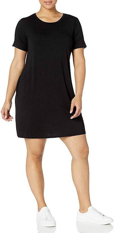 Daily Ritual Plus Size Jersey Short-Sleeve Scoop Neck T-Shirt Dress