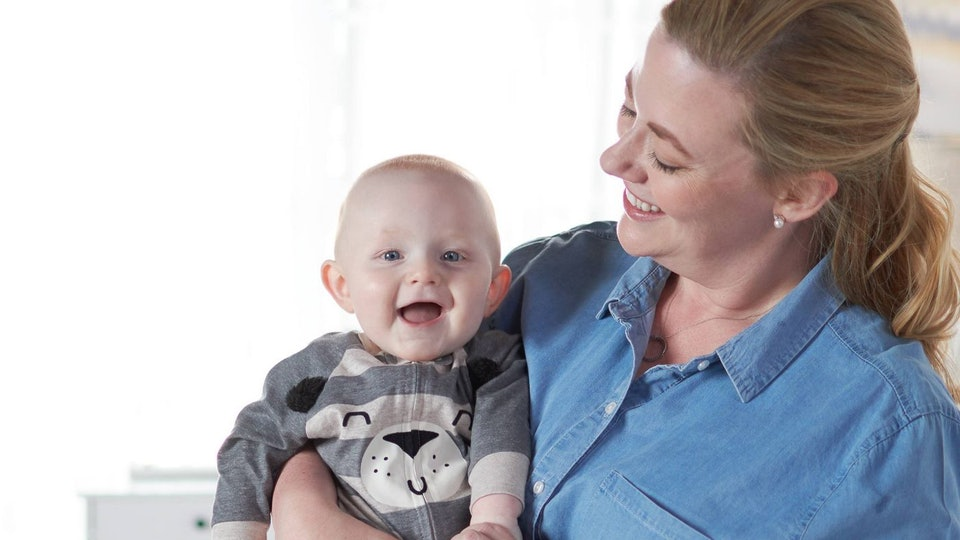 baby wearing gerber bodysuit from target sale