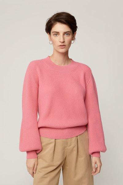 Lantern Sleeve Tracee Pink Sweater