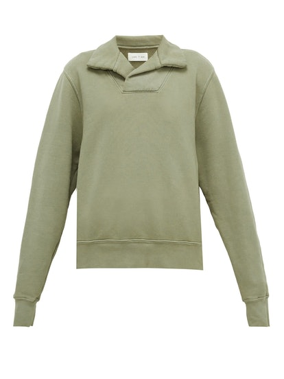 Yacht Open-Collar Jersey Sweatshirt