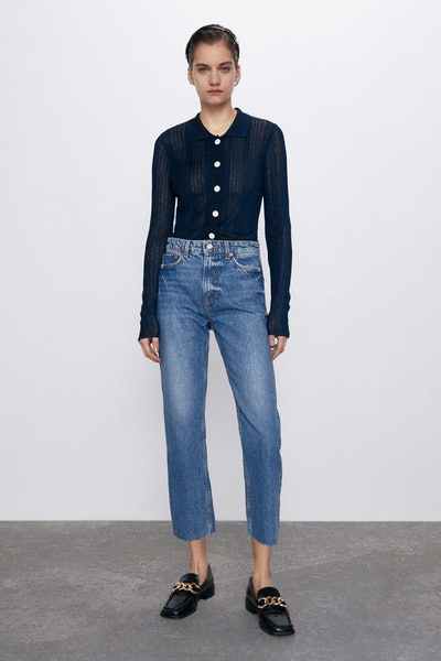 ZW Premium Ankle Straight Jeans In True Blue