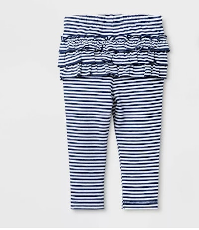 Baby Girls' Stripe Leggings - Cat & Jack™ Blue