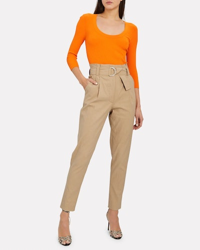 Diego Tapered Paperbag Trousers