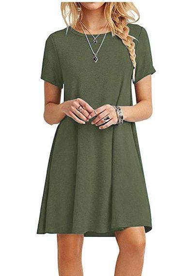 MOLERANI Women's Loose T-Shirt Dress