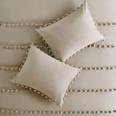 Elly Pom Pom Cotton Comforter Set