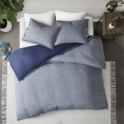 Denim Cotton Yarn Dye Duvet Cover Set