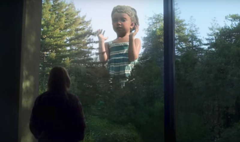 The creepy statue of Forest's daughter on 'Devs'