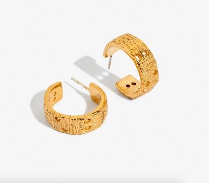 Mantra Hoop Earrings