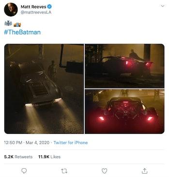 Matt Reeves The Batman Batmobile
