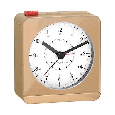 MARATHON Classic Silent Sweep Alarm Clock