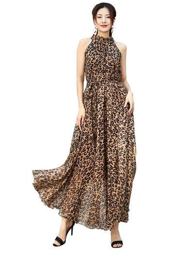MedeShe Women's Chiffon Maxi Dress
