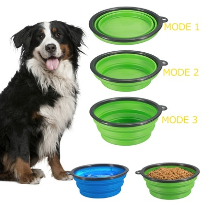 COMSUN Extra Large Collapsible Dog Bowls (2-Pack)