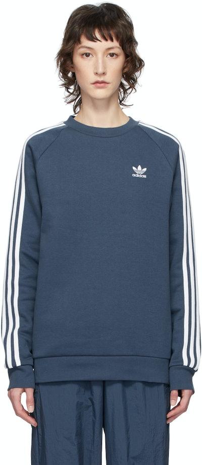 Blue 3-Stripes Sweatshirt