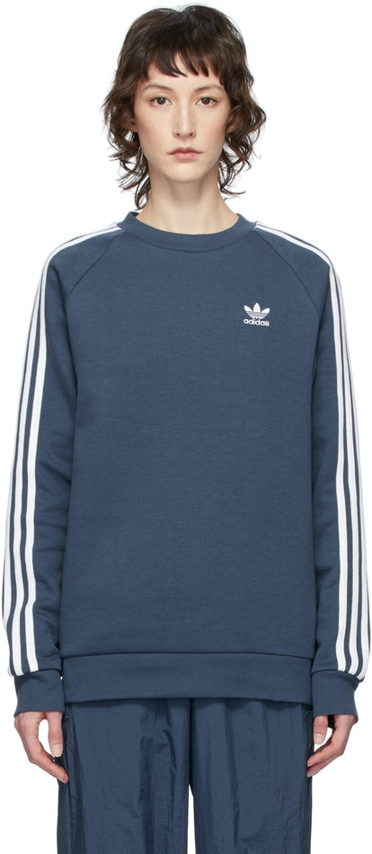 Blue 3-Stripes Sweatshirt
