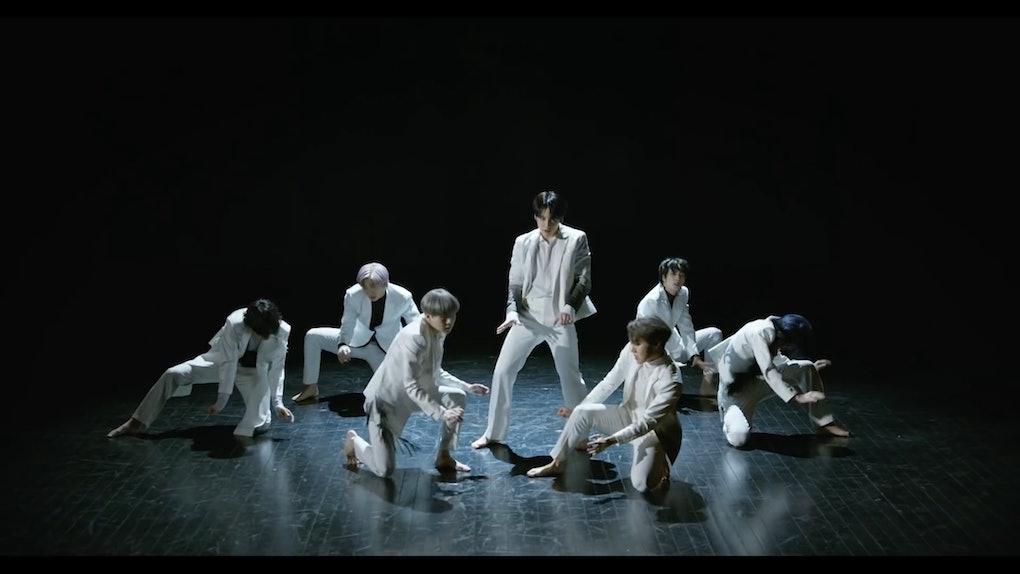 BTS dance in their 'Black Swan' music video.
