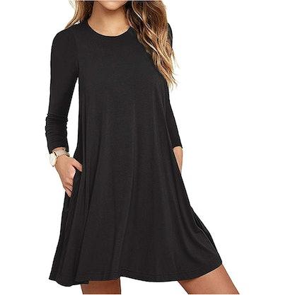 Unbranded Women's Long Sleeve Pocket Dress