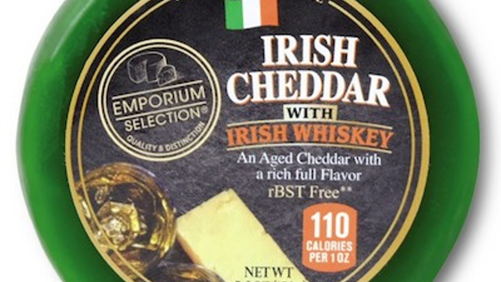 Aldi's 2020 St. Patrick's Day Finds include alcohol-infused cheeses.
