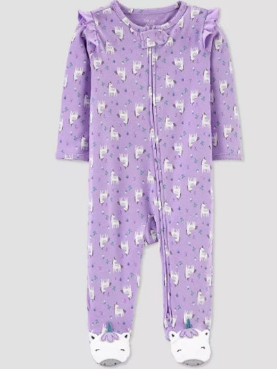 Baby Girls' Unicorn All Over Print 1pc Pajama - Just One You® made by carter's Lilac