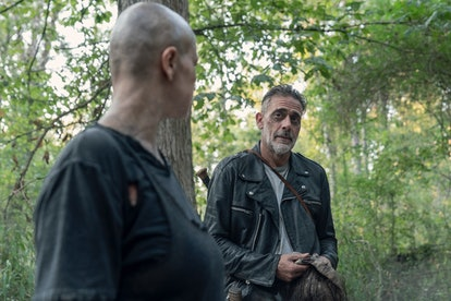 Jeffrey Dean Morgan as Negan and Samantha Morton as Alpha in The Walking Dead