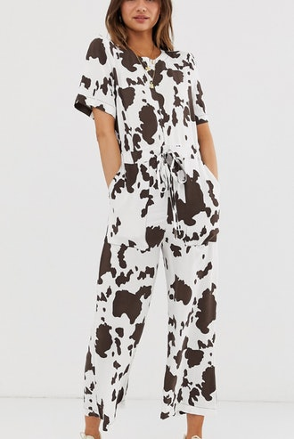 Jumpsuit In Cow Animal Print