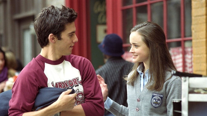 Rory and Jess from Gilmore Girls talk. If you're scared about protecting yourself in a long-term rel...