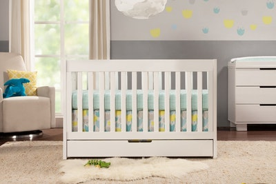 Mercer 3-in-1 Convertible Crib With Toddler Bed Conversion Kit