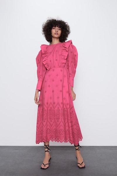 Embroidered Eyelet Dress