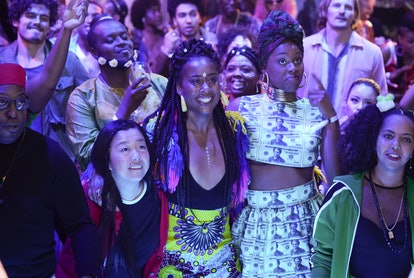 Actors Sherry Cola, Zuri Adele, and Jerrie Johnson attended Trap Heals on Freeform's 'Good Trouble' Season 2 finale
