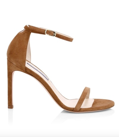 Nudistsong Ankle-Strap Suede Sandals
