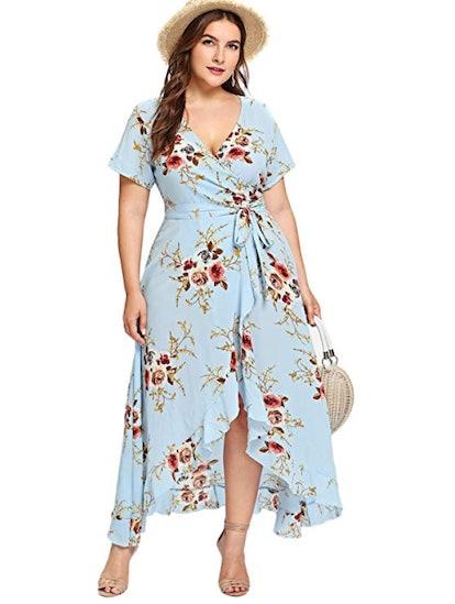 Milumia Plus Size Asymmetrical Maxi Dress