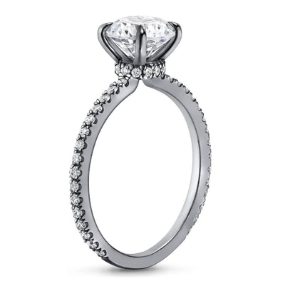 18K White Gold Black Rhodium Demi Diamond Ring (1/3 ct. tw.)